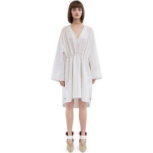 ACNE STUDIOS CALIDA POP WHITE DRESS